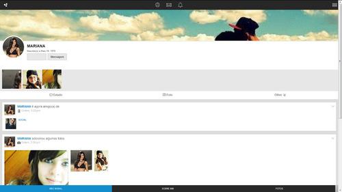 sistema rede social  2015 mobile