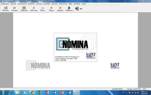 sistema saint de nomina y recursos humanos ver.5.0 windows