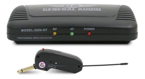 sistema sem fio p/ guitarra e baixo gen-gt general audio uhf