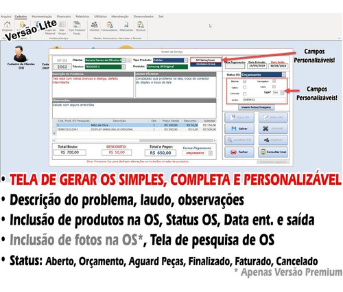 sistema simples assistência técnica, celular, os, promoção