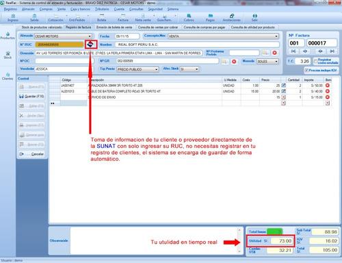 sistema software de almacen y facturacion - garantia total