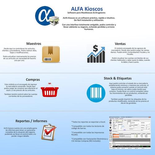 sistema software facturación para kioscos y comercios