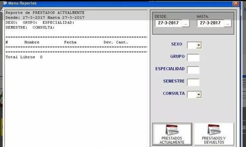 sistema software gestión préstamos de libros bibliotecas