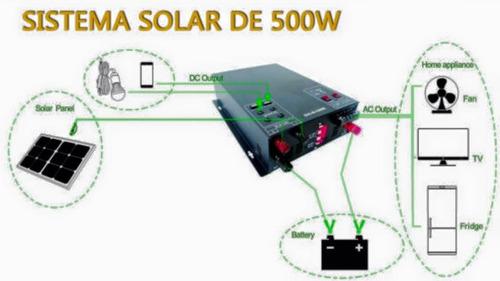sistema solar 500 watts 220v