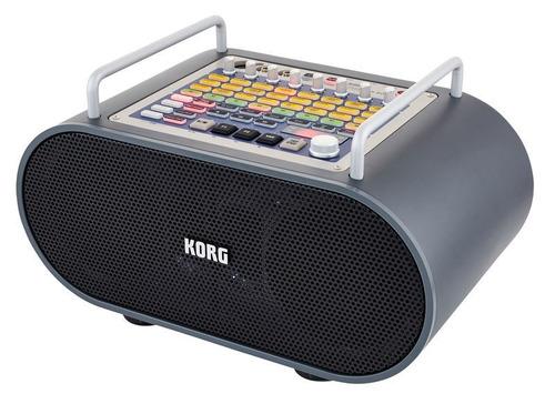 sistema som estéreo korg stageman 80 portátil 2 falantes 4