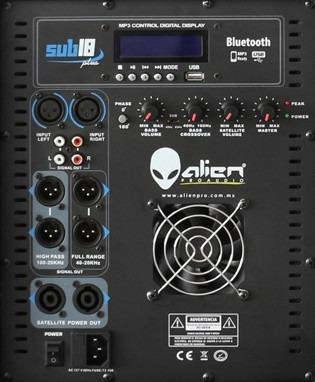 sistema subwoofer 18 amplificado satelites bocina 15 alien