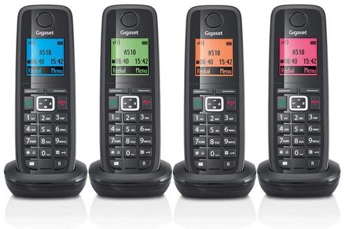 sistema telefónico inalámbrico ip dect gigaset a510 quad