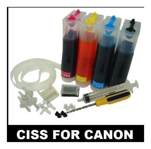 sistema tinta continua impresoras canon, recarga cartuchos