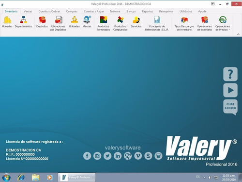 sistema valery administrativo