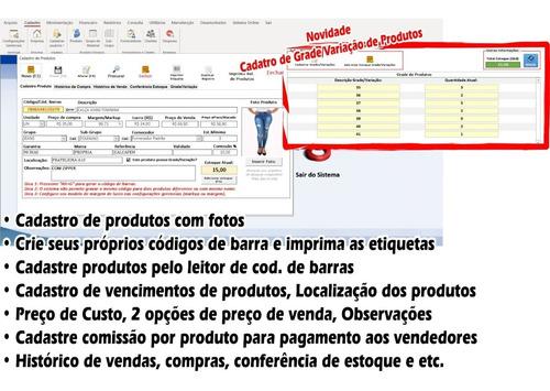 sistema vendas, controle de estoque, caixa, pdv, clientes, vendas a prazo e carnê, smb store, completo, promoção!