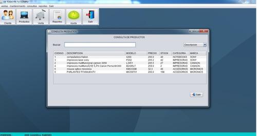 sistema venta en 3 capas en java y mysql+ tesis