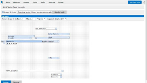 sistema web de compras ventas facturación kardex
