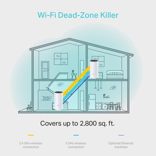 sistema wi-fi mesh tp link deco m4 dual band ac1200 enlace wireless