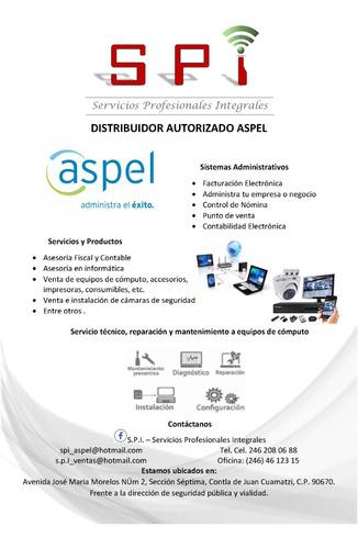 sistemas aspel, servicios informáticos y asesoría fiscal
