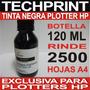 Botella Tinta Plotter Hp Negra 120 Ml Para Sistema Continuo
