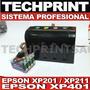 Sistema Continuo Profesional Para Epson Xp201 Xp211 Xp401
