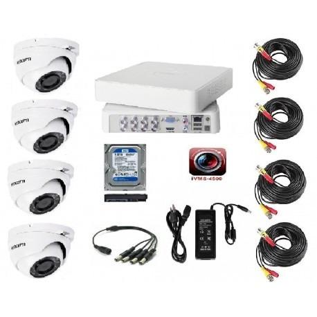 sistemas de cctv con dvr de 8 canales y 4 cámaras zmodo