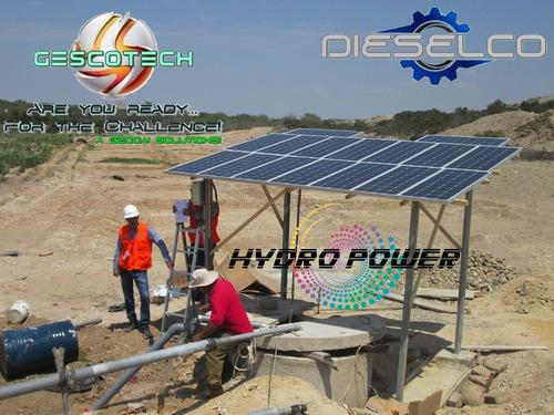 sistemas de riego y bombeo con panel solar
