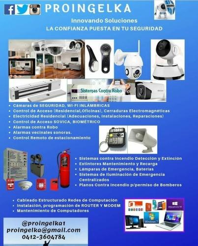 sistemas de seguridad instalación,mantenimiento,reparación