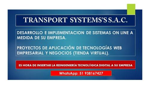 sistemas gestión delivery, sistema de transporte