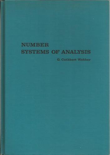 sistemas numéricos del analisis matemático. webber.