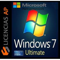 Licencia Windows 7 Ultimate 32/64 Bits Rentail Para 1 Pc