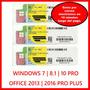 Windows 7 | 8.1 | 10 Pro - Office 2013 | 2016 Original 32/64