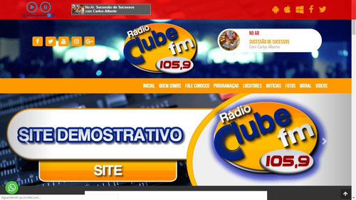 site administrável para rádio - dinâmico