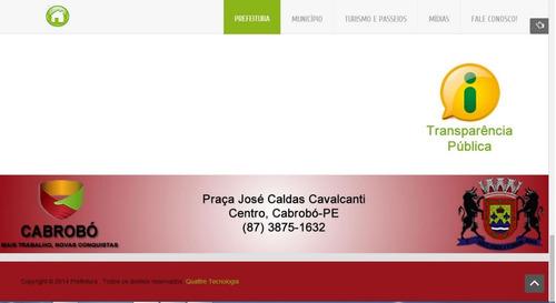 site administrável prefeituras - responsive - vários modelos