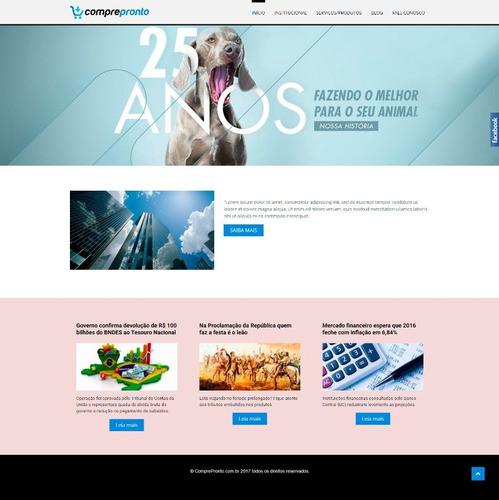 site completo blog institucional responsivo  2017 +brinde