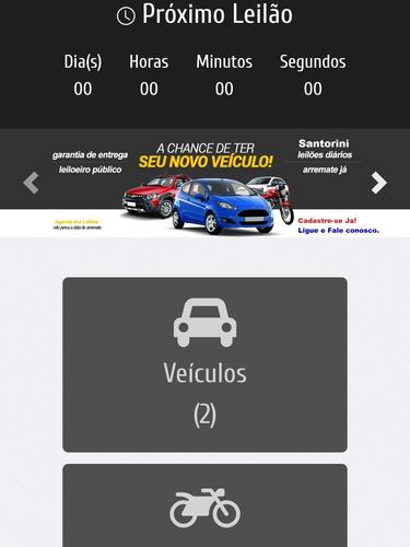site de leilao de carros completo