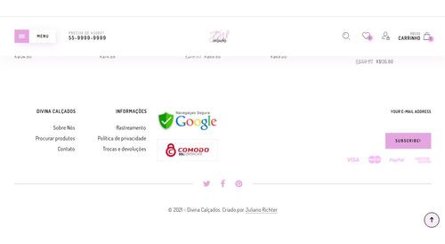 site e aplicativo para lojas femininas