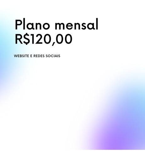 site e rede social plano mensal