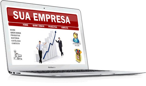 site empresarial, com layout moderno e sistema gerenciável