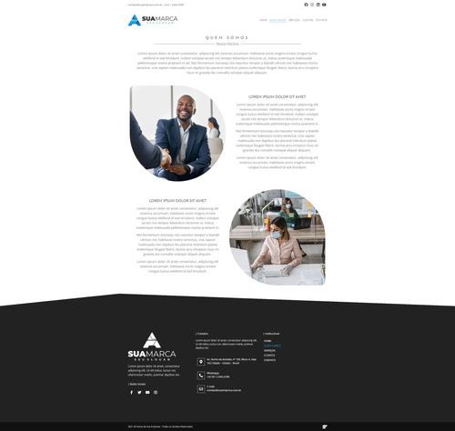 site institucional + domínio + hospedagem + e-mail + seo