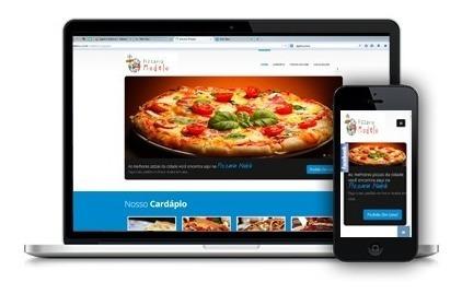 site institucional para pizzaria, responsivo pedidos on line