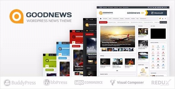 Site Notícias / Blog / Revistas - Goodnews - Tema Wordpress - R$ 19 ...