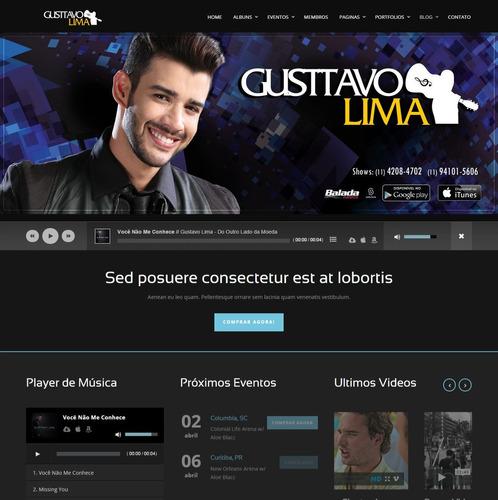 site para: cantores, duplas e bandas (exclusivo) responsivo