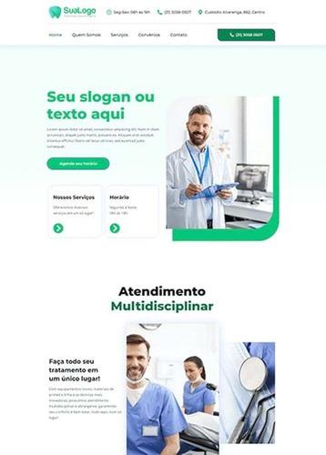 site para dentistas, médicos, nutricionista, entrega rápida