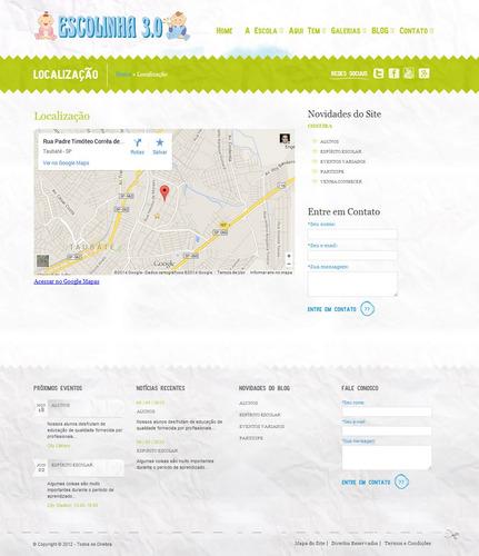 site para escolas, creches, berçários, pré escola etc, v.3.0