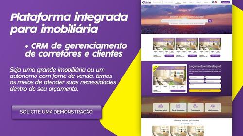 site para imobiliária e corretores + crm completo integrado