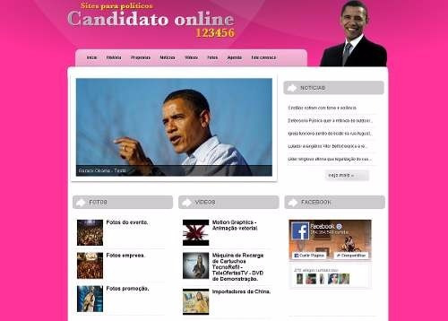 site para politicos vereadores deputados  script php