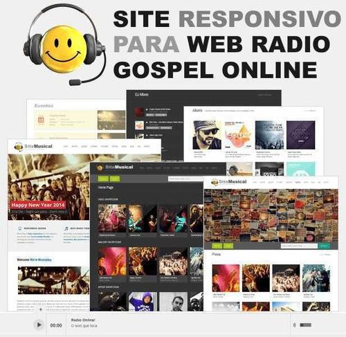 site para web rádio gospel, eventos e baladas em wordpress