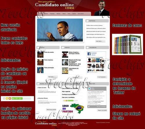 site php politico vereador prefeito candidato deputado 01/13