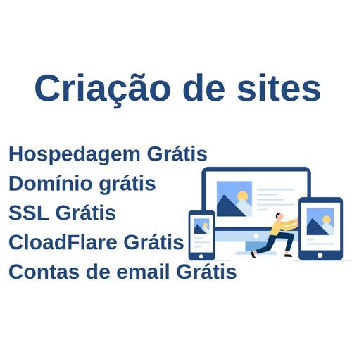 site profissional + dominio + hospedagem + emails