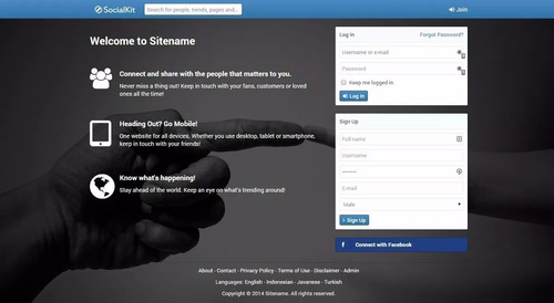 site rede social em script php