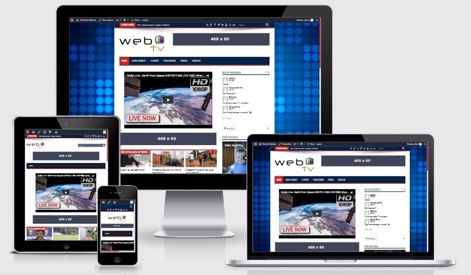 Site responsivo para tv online webtv vdeos tema web tv wp r 39 carregando zoom stopboris Images