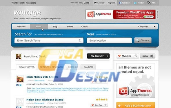 Site Script Guia Comercial Tema Wordpress Vantage Atualizado - R$ 7 ...