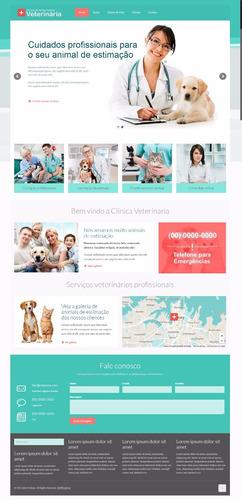 site script petshop clinica veterinária com administração wp
