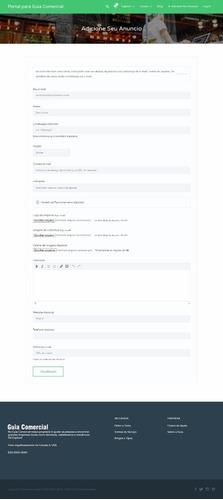 site, sistema, script php, guia comercial tema wordpress